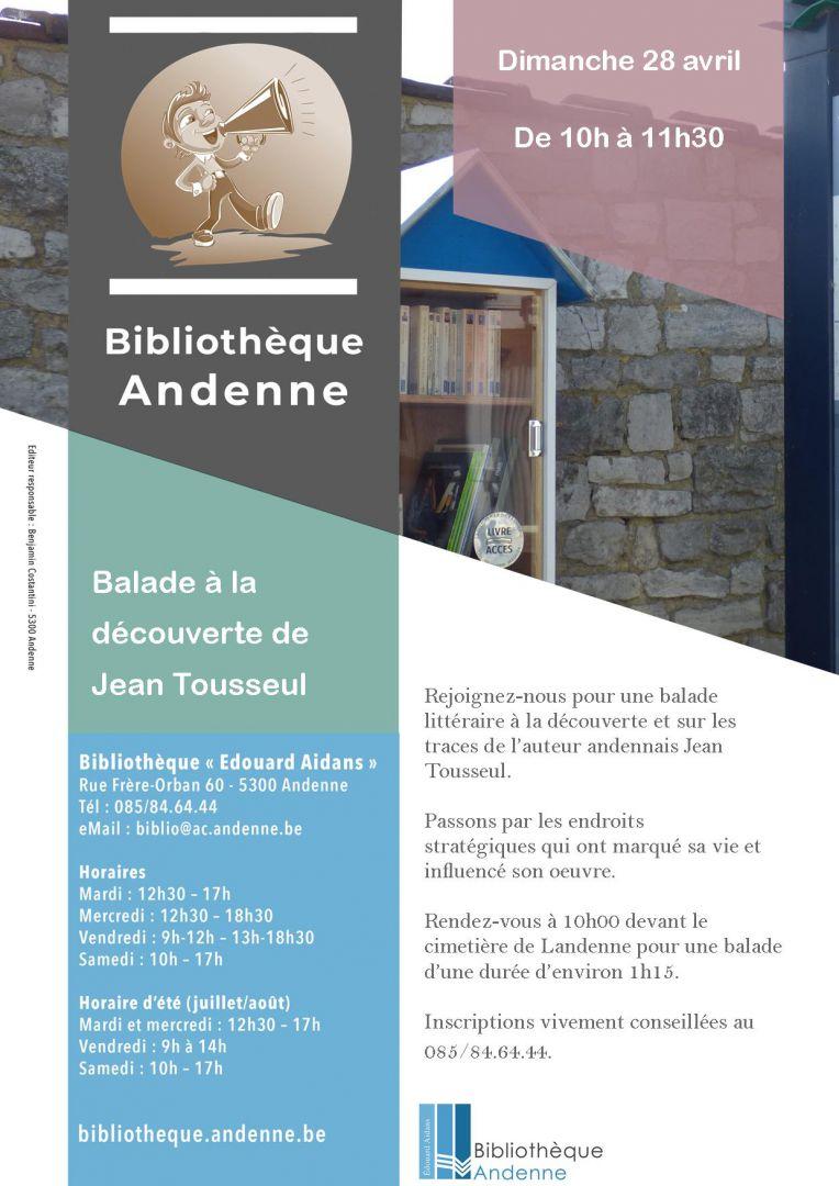 Animation «Boîte à livres» : à la découverte de Jean Tousseul