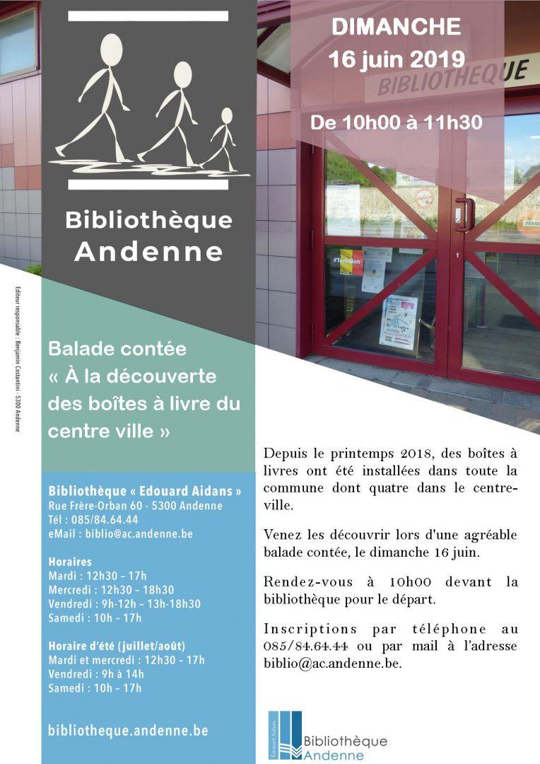 Balade contée «À la découverte des boîtes à livres du centre-ville»