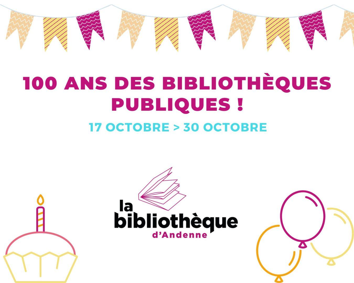 100 ans des bibliothèques publiques du 17.10 au 30.10